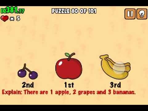 LEVEL 80 WALKTHROUGH What's my IQ ? (iPhone,iPod,iPad) IQ TEST SOLUTIONS