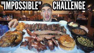 UNDEFEATED BBQ PLATTER CHALLENGE | SOUTHERN BBQ | Ribs, Sausage, Brisket, Chicken | ManVFood