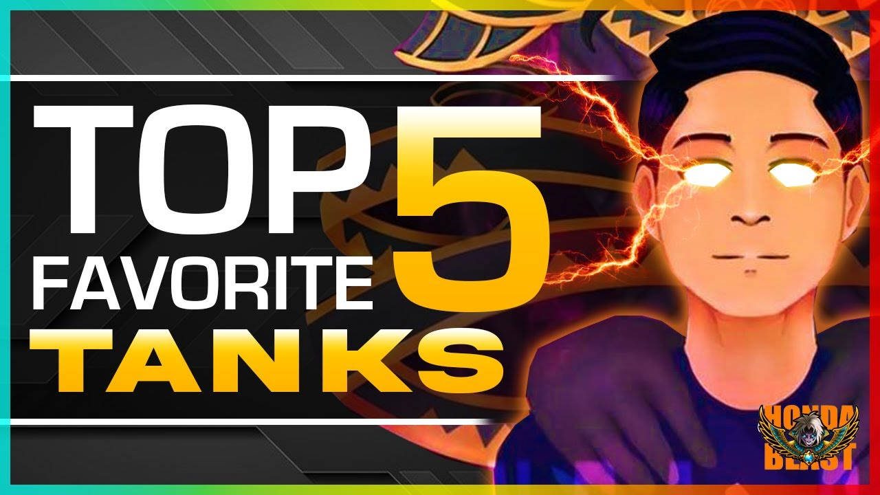 WHAT ARE THE TOP 5 FAVORITE TANKS OF HONDA BEAST? | QUICK ANALYSIS | MLBB