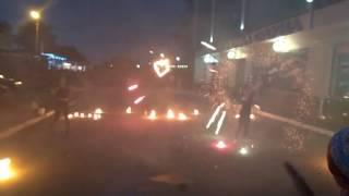 Огненное шоу  в Омске  - вертушка