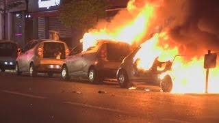 Riots in Paris: Cars burned in French election protests