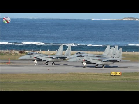 F-15s By The Sea At Naha Japan - AIRSHOW WORLD