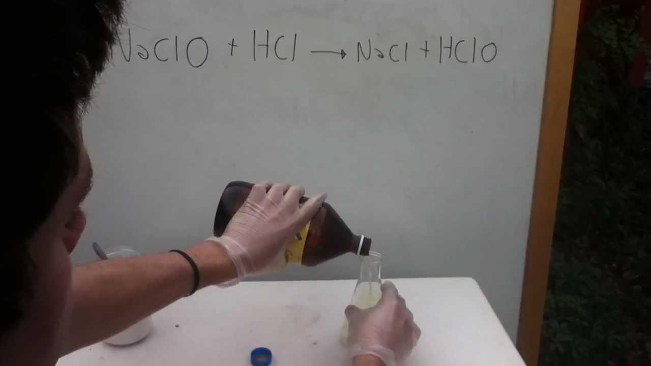 Acido clorhidrico hipoclorito de sodio hcl naclo for Hipoclorito de sodio para piscinas