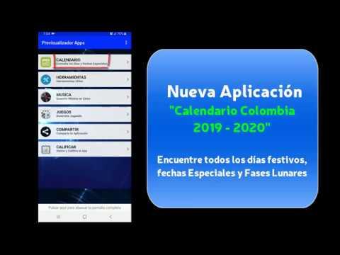 Calendario Colombia 2020.Calendario Colombia 2019 2020