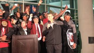 Frank Martin tries to convince Dr. Pastides to cancel class