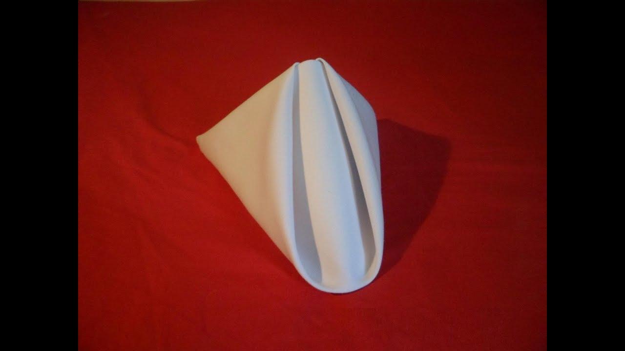 How To Fold Napkins Pyramid Fold Napkin Folding Video Youtube