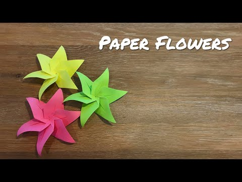 How to make Paper Flowers / Easy Origami Flowers