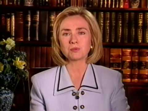 Hillary Clinton Welcomes 1996 Media Literacy Conference in Los Angeles
