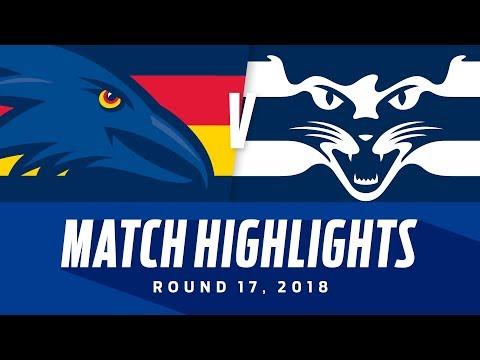Adelaide v Geelong Highlights | Round 17, 2018 | AFL