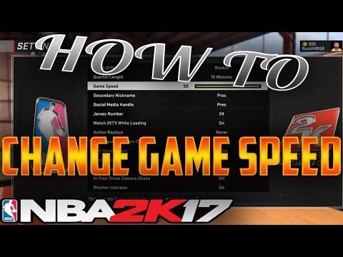 HOW TO CHANGE GAME SPEED ON NBA 2K17 - MYCAREER GAME SPEED