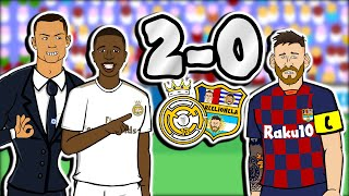 El Clasico - Real Madrid win 2-0! (Feat Vinicius, Mariano & Ronaldo Barcelona Goals Highlights)