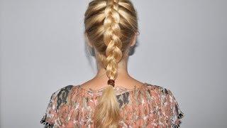 Как заплести вывернутую французскую косу самой себе(Видео о том, как заплести французскую вывернутую косу самой себе. Очень простое объяснение., 2014-07-03T11:31:47.000Z)