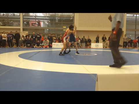 2015 Senior Greco-Roman National Championships: 66 kg Kevin Iwasa-Madge vs. Luke Roberts
