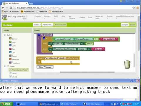 How to Make Panic button Android App with GPS coordinates using App Inventor 2 without writing codes