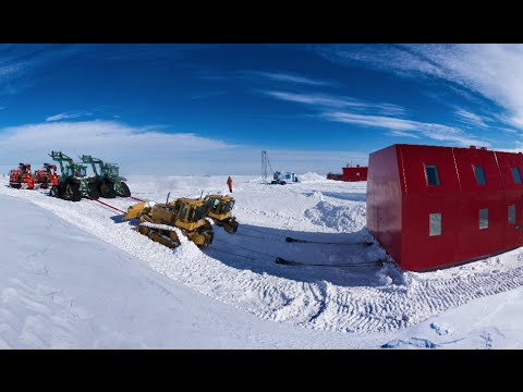 Garage & Drewery Building Move - Halley VI, Antarctica