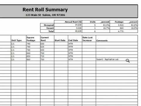 ProAPOD Rent Roll Report - Rental Property Analysis - YouTube - rent roll form