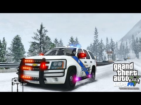 GTA 5 LSPDFR 0.3.1 - EPiSODE 293  - LET'S BE COPS - PALETO BAY SNOW PATROL (GTA 5 PC POLICE MODS)