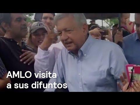 AMLO visita a sus difuntos en Villahermosa, Tabasco - Noticias con Karla Iberia