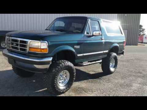 rare lifted 1995 ford bronco xlt 4x4 for sale 5 speed manual 5 0l rh youtube com 1996 Ford Bronco 1997 Ford Bronco