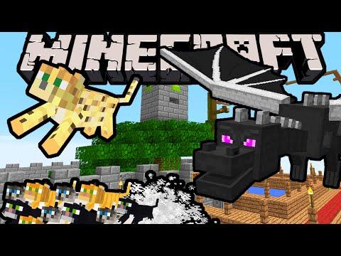 Minecraft DRAGON BOY  Itty Bitty Kitty City!  Episode 5 Super Hero Story & Improv Adventure