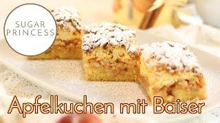 Super saftiger Apfel-Blechkuchen mit Baiser und Streuseln: Lieblingskuchen! | Sugarprincess