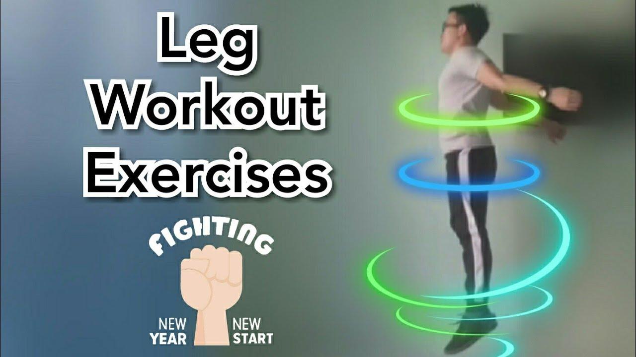 Các bài tập CHÂN từ Cơ bản đến Nâng cao-Leg Workout Exercises:Level Beginner-Intermediate-Advanced