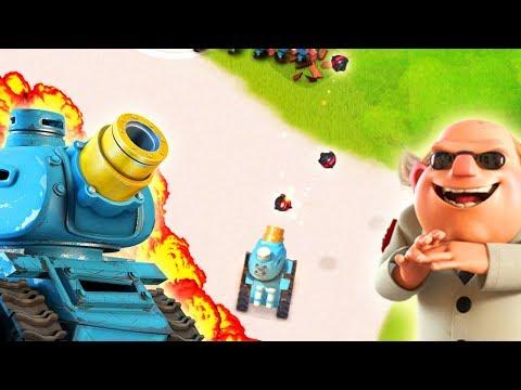 Boom Beach 1 MAX RAINMAKER Vs Dr T! NEW Prototroop Gameplay