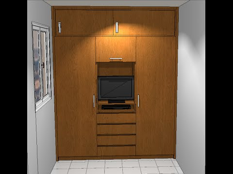comment d ssiner un dressing en 3d cour autocad youtube. Black Bedroom Furniture Sets. Home Design Ideas
