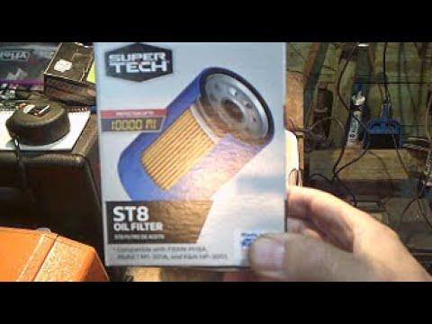 Walmart SuperTech ST8 Oil Filter Cut Open