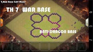 Clash of Clans - Town hall 7 (Th7) War Base + 3 Air Defense + Air Sweeper | Anti Dragon War Base