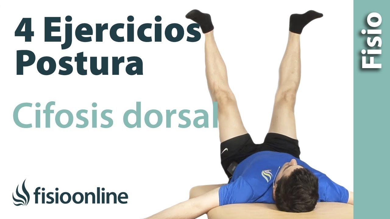 4 ejercicios para la cifosis dorsal y la postura corporal - YouTube