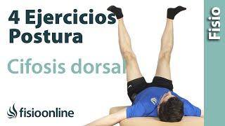 4 ejercicios para la cifosis dorsal y la postura corporal.