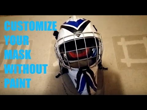 How To Customize Your Goalie Helmet Without Painting Youtube