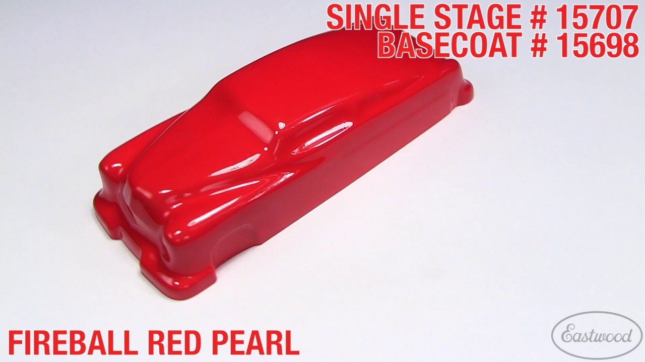Fireball Red Pearl Single Stage Amp Basecoat Paint