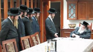 Belzer Rebbe Receives Annual Report By Officers Of Ahavas Chesed - Elul 5772