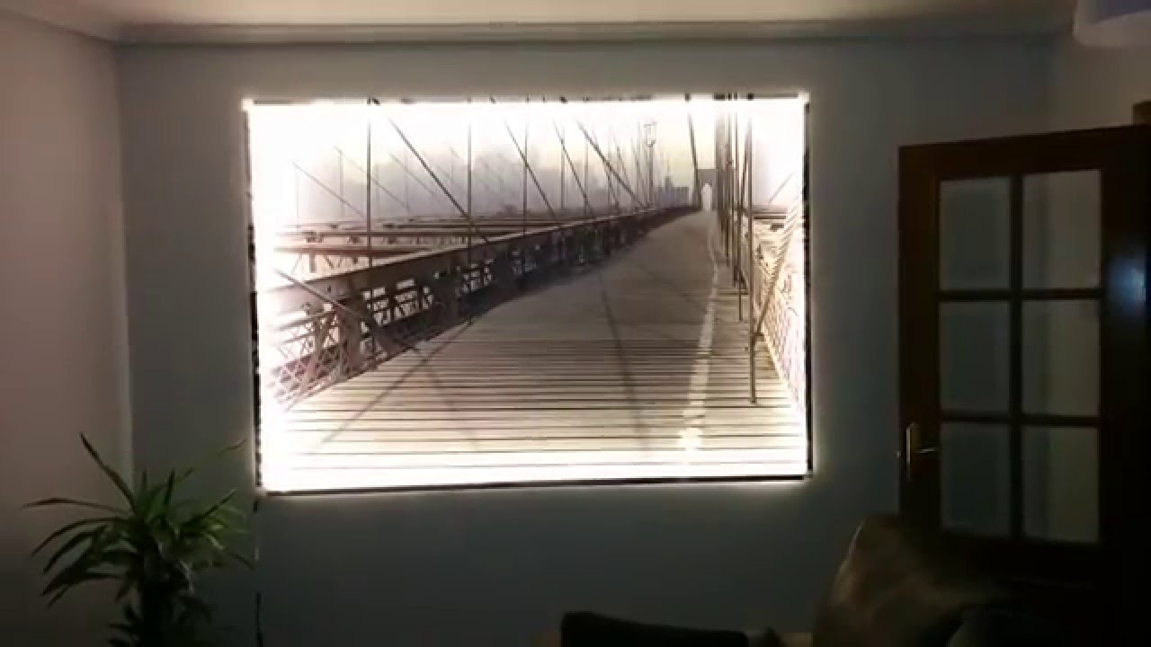 Cuadro con iluminaci n led youtube - Iluminacion para cuadros ...