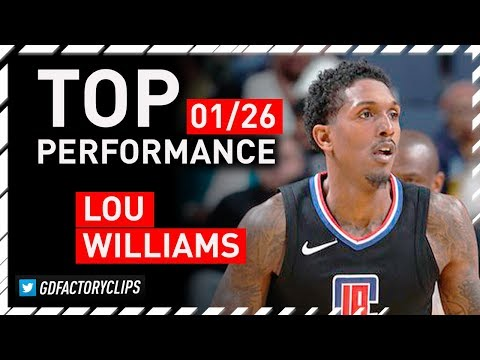 Lou Williams TOP Full Highlights vs Grizzlies - 40 Pts, 10 Ast | 2018.01.26