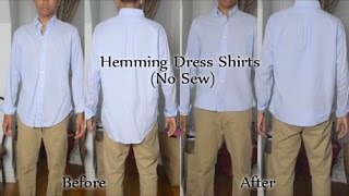 How to Hem Dress Shirt without Sewing
