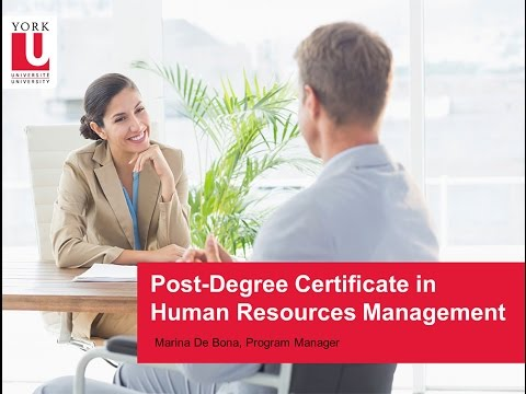 Post-Degree Certificate Human Resources Management