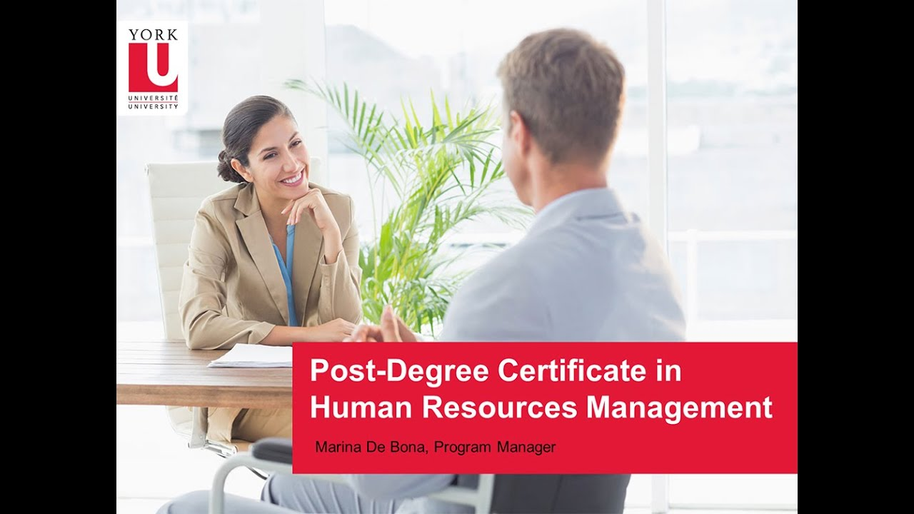 Post-degree Certificate in Human Resources Management | School of