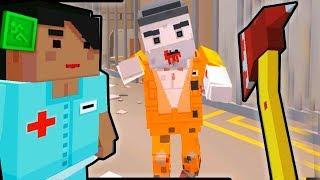 ЗОМБИ Нападение как МАЙНКРАФТ Симулятор Выживания с зомби Побег из тюрьмы и из Больницы с ЗОМБИ