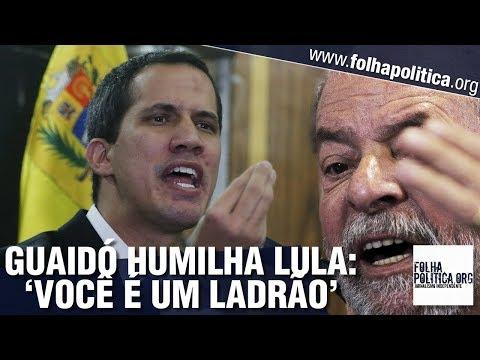 Presidente interino da Venezuela, Guaidó rebate e humilha Lula: 'Você é um ladrão'