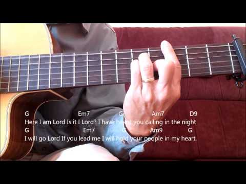 Catholic Hymn Guitar Solo - Here I Am Lord (Dan Schutte)