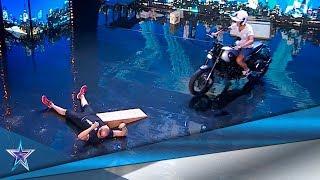 Es ATROPELLADO por una MOTOCICLETA por AMOR a su HIJA | Audiciones 6 | Got Talent España 5 (2019)