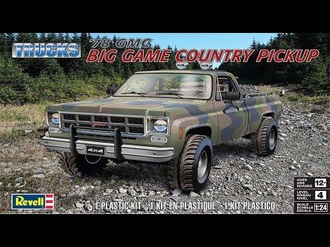 1978 GMC Big Game Country Pickup Truck 1:24 Model Kit Bausatz Revell 7226