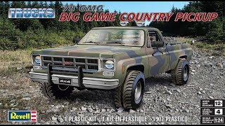 How to Build the 1978 GMC Big Game Country Pickup 1:24 Scale Revell Model Kit #85-7226
