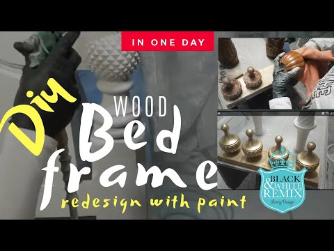 Diy REPAINTING OF A  CLASSICAL WOOD BED