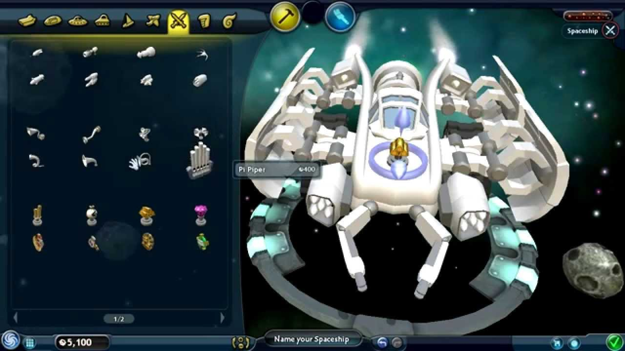 Spore Space Stage Part 1 Creating My Space Ship Youtube