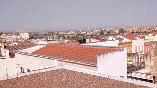 El humo de los incendios de Portugal alcanza Badajoz