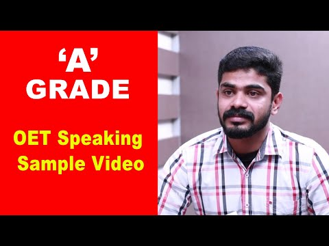 "How to get ""A"" grade in OET speaking? 